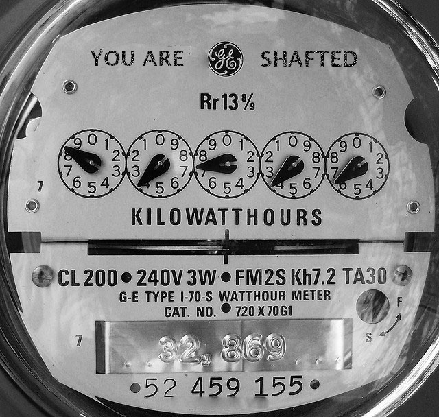 Meter showing electricity
